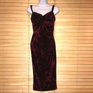 Bettie Page by Tatyana Vintage Velour Sheath Dress